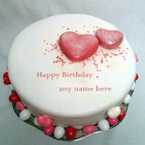 beautiful birthday cake with name editor