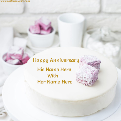 best marriage anniversary cake with name