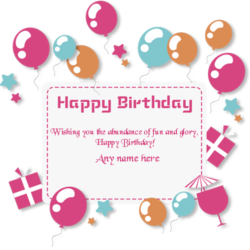 birthday wishes cards with name