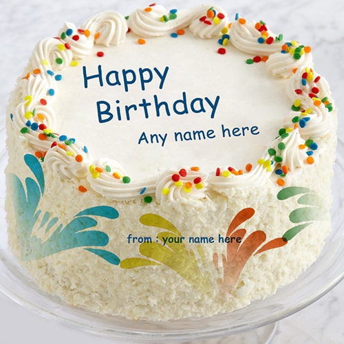 Brilliant Colorful Birthday Cakes With Name Funny Birthday Cards Online Aeocydamsfinfo
