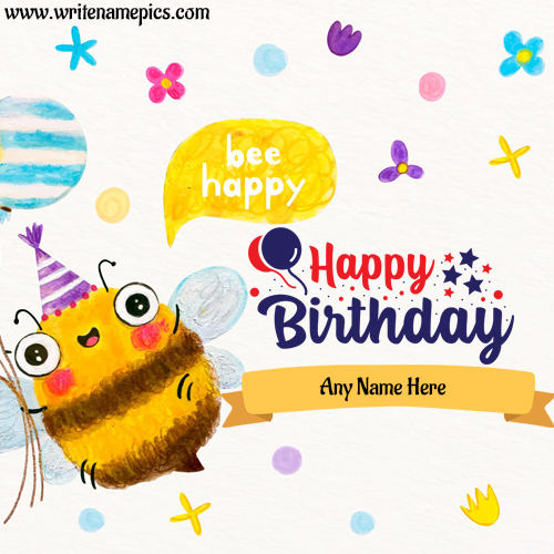 create online birthday card with name image online free