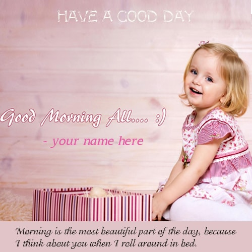 cute baby wishes good morning quotes name pics