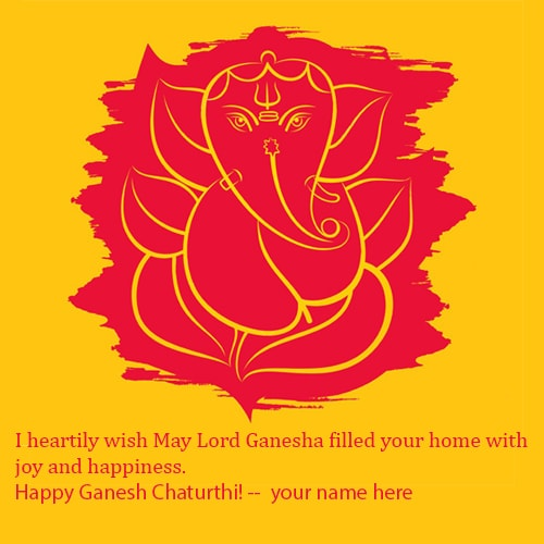 ganesh chaturthi wishes for family greetings cards with name