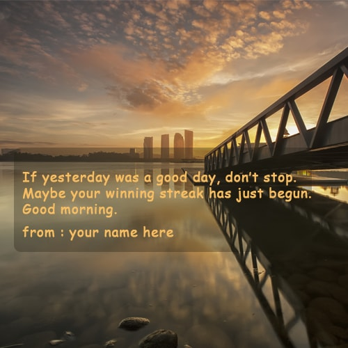 good morning motivational quotes name pictures