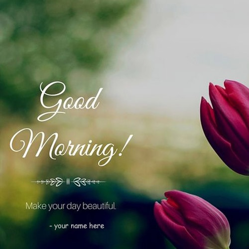 good morning rose images with name