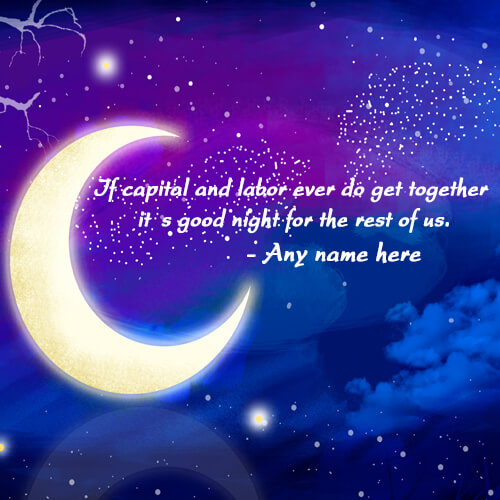 good night wishes greeting card with name