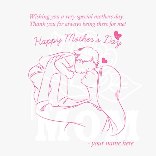 hand drawn mothers day greeting cards