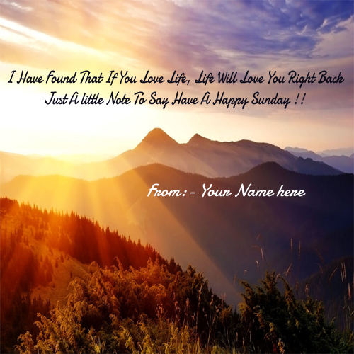 Happy Sunday Wishes With Name Edit Pictures Free Download