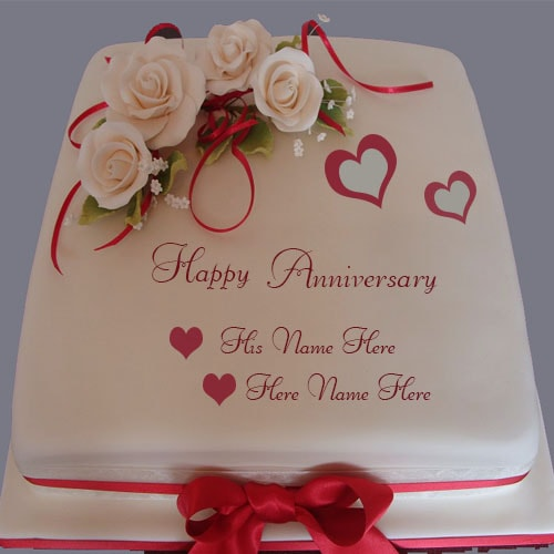 wedding cake images with name editor happy anniversary cake with name editor 22962