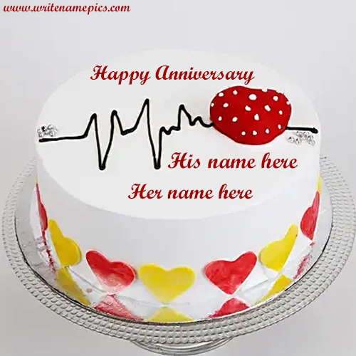 happy anniversary cake with name edit download