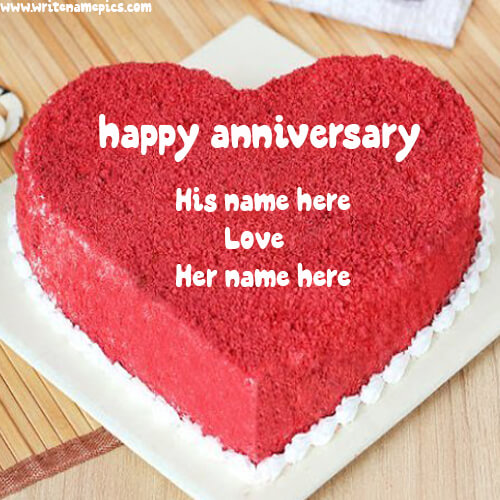 happy anniversary cake with name free download