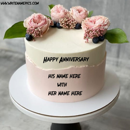 happy anniversary cake with name images