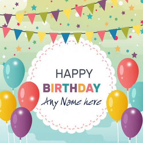Happy Birthday Beautiful Greeting Card With Name Image