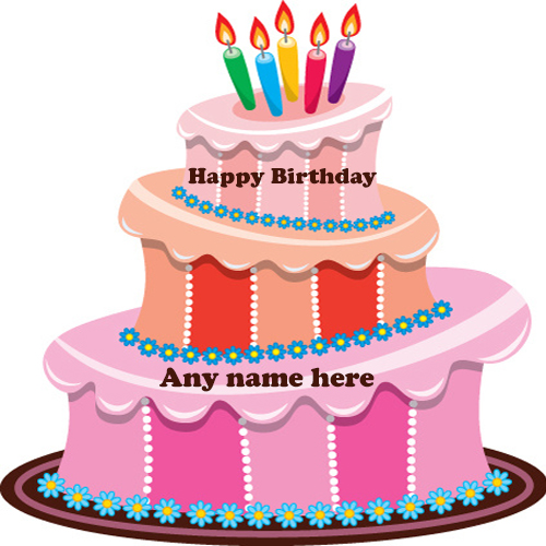 happy birthday cake with name edit free download