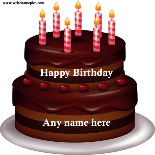 happy birthday cake with name edit online free