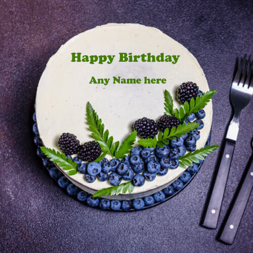 happy birthday cake with name edit online