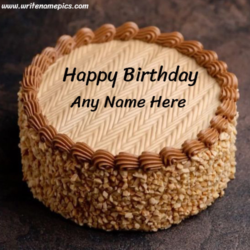 happy birthday cake with name online free