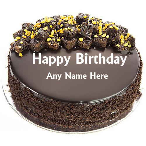 Birthday Chocolate Cake Images With Name Editor