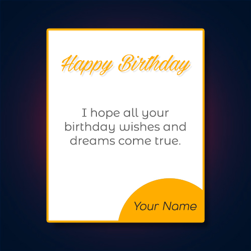 happy birthday wishes quotes with name cards
