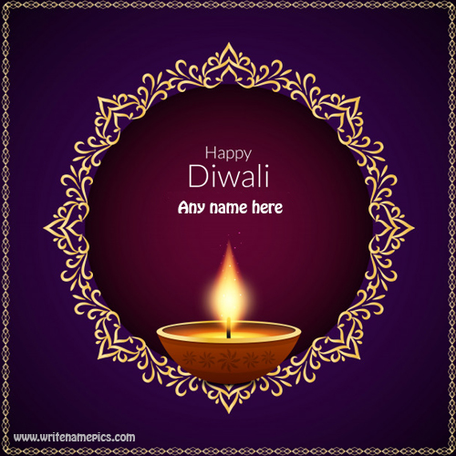 happy diwali wishes with name pic free edit
