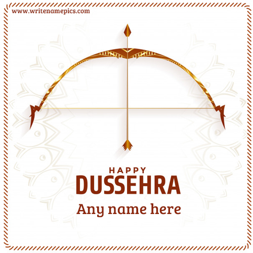 happy dussehra greetings cards with name edit online