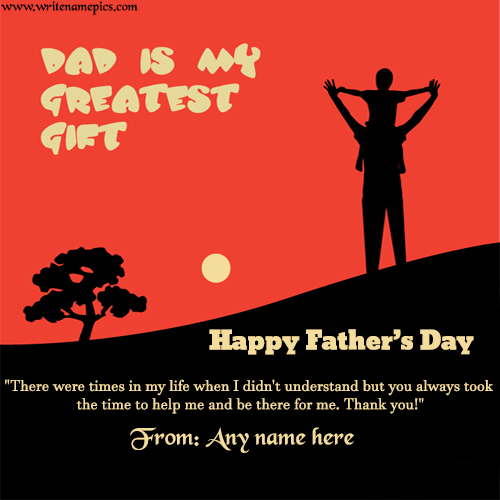 happy fathers day wishes quotes with name photo