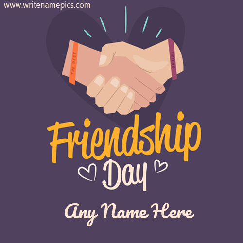 happy friendship day 2020 greeting cards with name