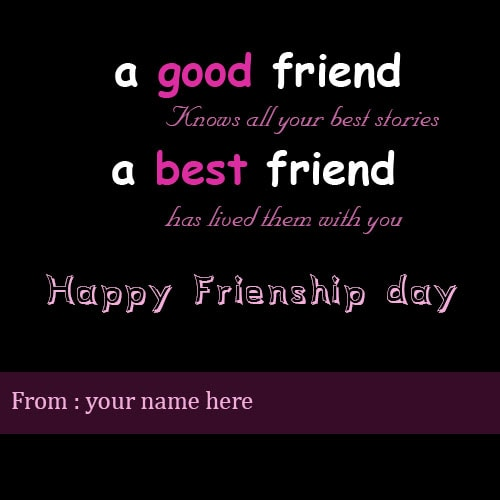 happy friendship day wishes for best friend with name
