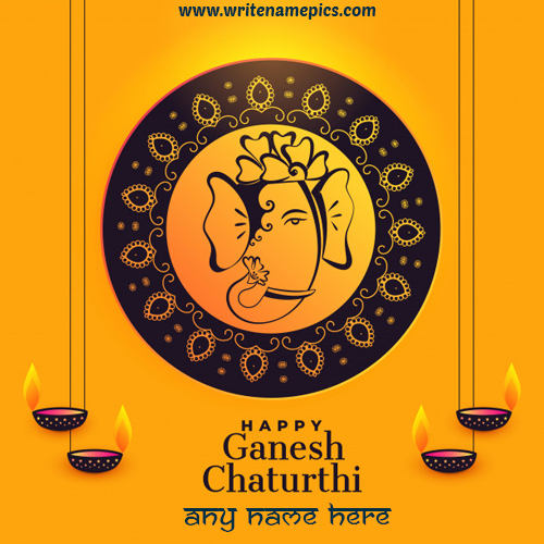 happy ganesh chaturthi 2019 wishes card with name