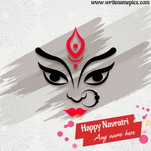 happy navratri 2020 wishes card with name edit