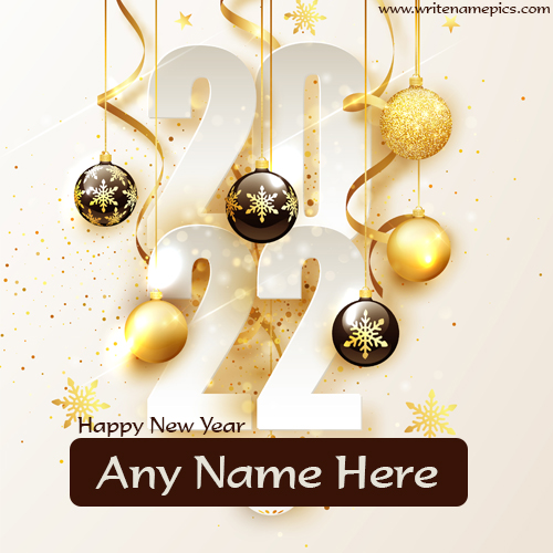 happy new year 2022 greeting card with name