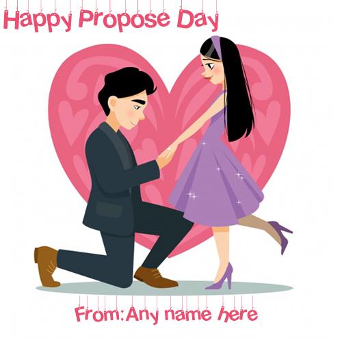 happy propose day whatsapp status pic witn name