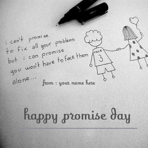 happy promise day wishes for friends name pics