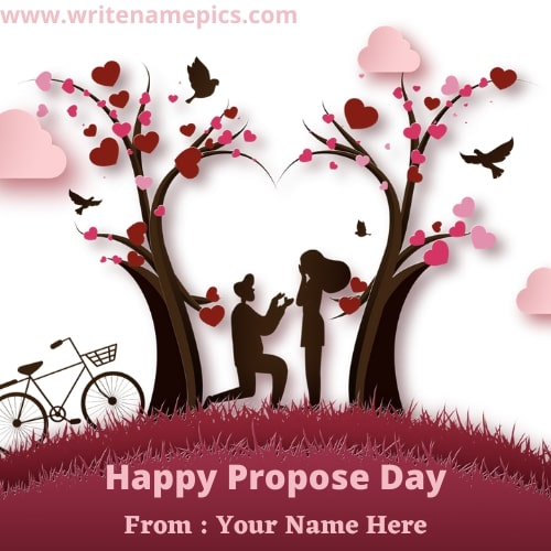 happy propose day 2021 greeting card with name