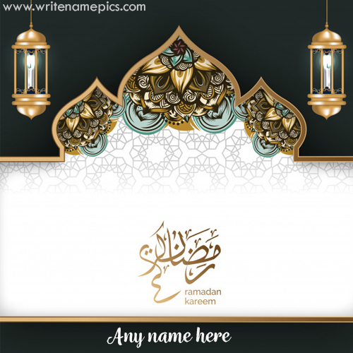 happy ramadan 2020 greeting card with name