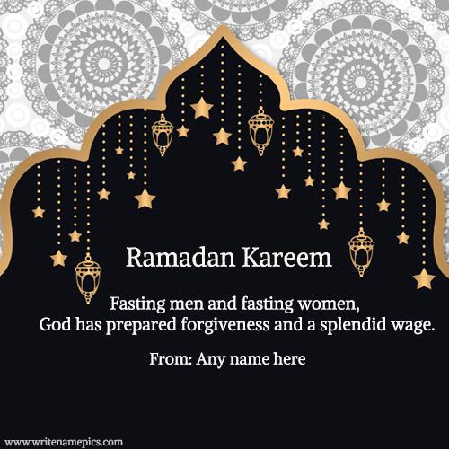happy ramadan kareem wishes greetings cards with name pics