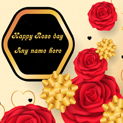 happy rose day with name pic valentine day special