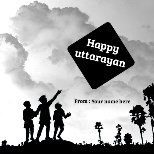 happy uttarayan wishes name picture