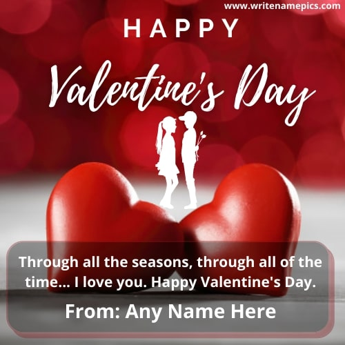 happy valentine day 2021 Greeting card with name
