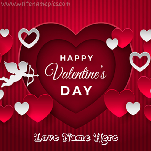 happy valentine day wishing card with name
