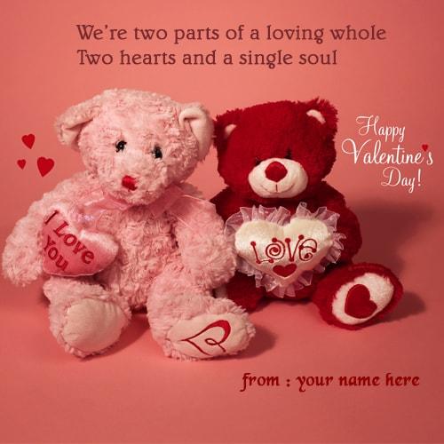 Happy Valentines Day Teddy Bear Hug Pics