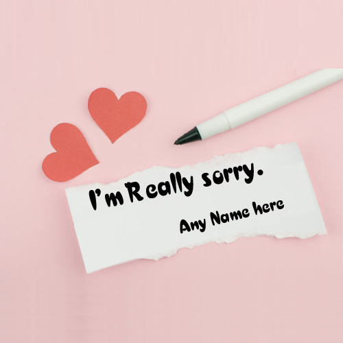 i am really sorry greeting card with name pic free