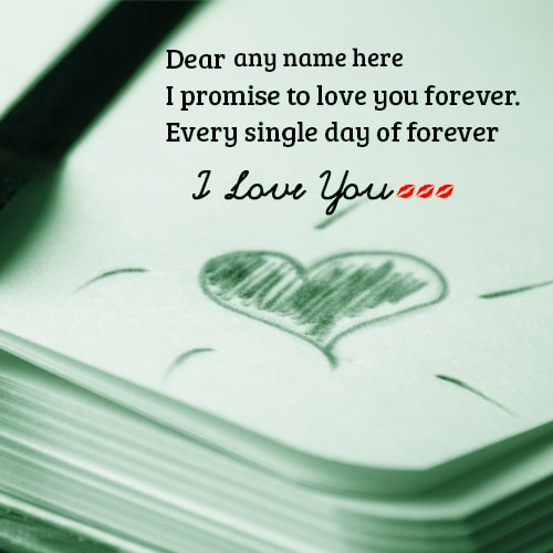 i love you forever promise cards with name