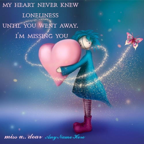 I miss you greeting cards images with name editor m4hsunfo