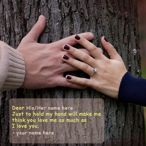 Just Hold My Hand Love Quotes Name Pics