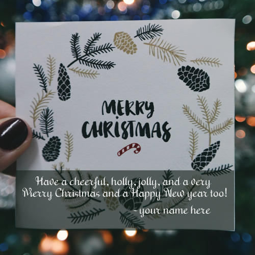 latest merry christmas wishes greeting cards with your name free