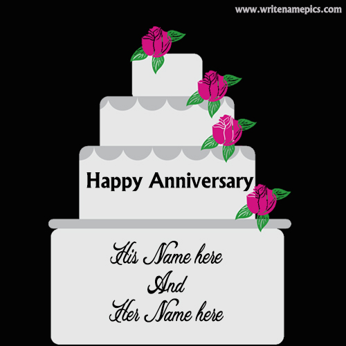love anniversary cake with name
