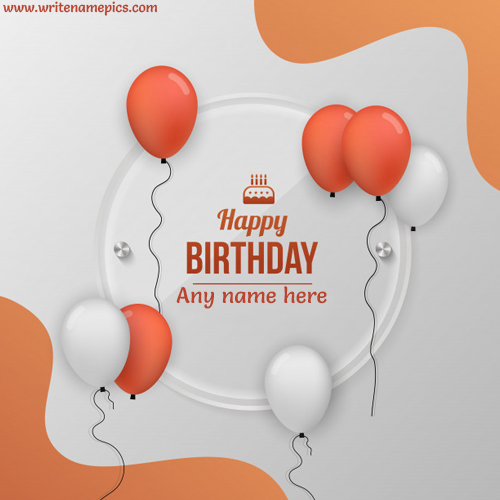 lovely happy birthday Card with Name Image