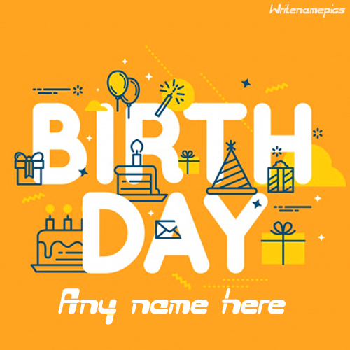 make a happy birthday greeting card with name
