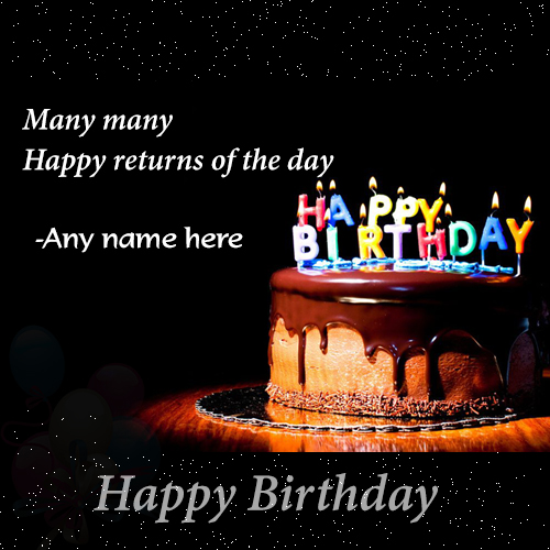 many many return of the day happy birthday card with name